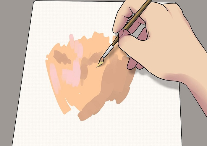 How to make skin color with tempera