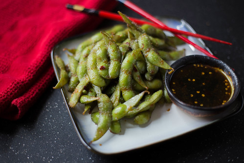 edamame with soy sauce
